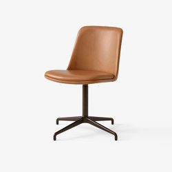 Rely HW14 & HW19 Bronzed w. Cognac Silk Leather | Chairs | &TRADITION