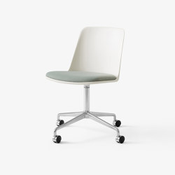 Rely HW22 Polished Aluminium w. White & Relate 921   Chairs   &TRADITION