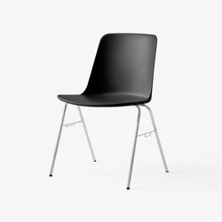 Rely HW27 Chrome w. Black | Chairs | &TRADITION