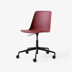 Rely HW28 Black w. Red Brown | Chairs | &TRADITION