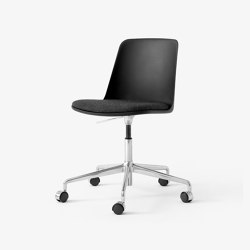 Rely HW29 Polished Aluminium w. Black & Wool 198 | Stühle | &TRADITION