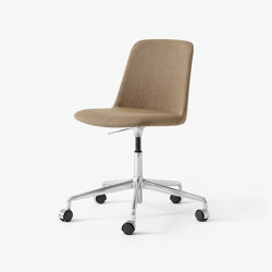 Rely HW30 Polished Aluminium w. Wool 458 | Chairs | &TRADITION