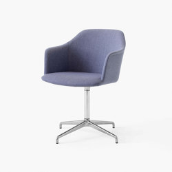 Rely HW40 Polished Aluminium w. Re-Wool 658 | Chairs | &TRADITION