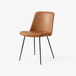 Rely HW9 Black w. Cognack Silk Leather | Chairs | &TRADITION