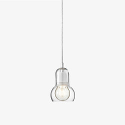 Bulb Pendant SR1 Clear & Fabric Cord | Suspended lights | &TRADITION