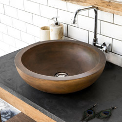 Alba Vintage Brown Concrete Basin - Sink - Vessel - Washbasin | Wash basins | ConSpire
