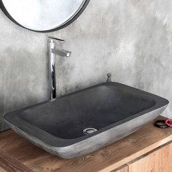 Alghero Dusk Grey Concrete Basin - Sink - Vessel - Washbasin   Wash basins   ConSpire