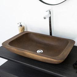 Alghero Vintage Brown Concrete Basin - Sink - Vessel - Washbasin   Wash basins   ConSpire