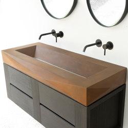 Diamond Grande Vintage Brown Concrete Sink - Basin - Washbasin | Wash basins | ConSpire