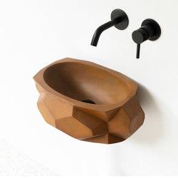 Diamond Piccola Vintage Brown Concrete Basin - Sink - Vessel - Washbasin | Wash basins | ConSpire