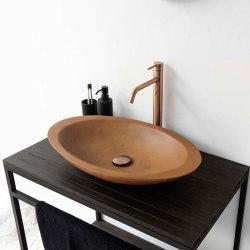 Mojo Vintage Brown Concrete Basin - Sink - Vessel - Washbasin | Wash basins | ConSpire