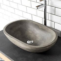 Novara Natural Concrete Basin - Sink - Vessel - Washbasin   Wash basins   ConSpire