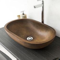 Novara Vintage Brown Concrete Basin - Sink - Vessel - Washbasin   Wash basins   ConSpire