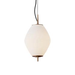 Nova   Tall Pendant - Antique Brass   Suspended lights   J. Adams & Co