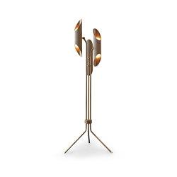 Vector | Floor Light - Antique Brass | Free-standing lights | J. Adams & Co