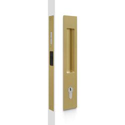Mardeco 8104 M-Series Flush Pull Euro Lock Set Satin Brass | Flush pull handles | Mardeco International Ltd.