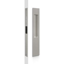 Mardeco 8105 M-Series Snib Lock Set Exterior plain plate Brushed Nickel | Flush pull handles | Mardeco International Ltd.