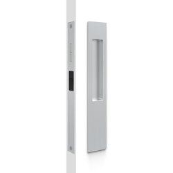 Mardeco 8105 M-Series Snib Lock Set Exterior plain plate Brushed Satin Chrome | Flush pull handles | Mardeco International Ltd.