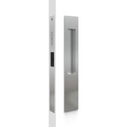 Mardeco 8105 M-Series Snib Lock Set Exterior plain plate Polished Chrome | Flush pull handles | Mardeco International Ltd.