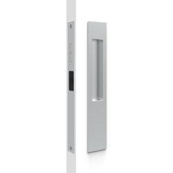 Mardeco 8105 M-Series Snib Lock Set Exterior plain plate Satin Chrome | Flush pull handles | Mardeco International Ltd.