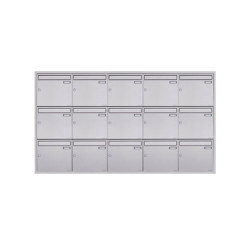 Basic | 15er 5x3 Edelstahl Unterputz Briefkastenanlage BASIC Plus 382XU UP - Edelstahl geschliffen 100mm Tiefe | Mailboxes | Briefkasten Manufaktur