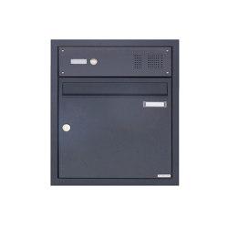 Basic | Edelstahl Unterputzbriefkasten BASIC Plus 382XU UP mit Klingelkasten - RAL nach Wahl Oben 100mm Tiefe | Mailboxes | Briefkasten Manufaktur