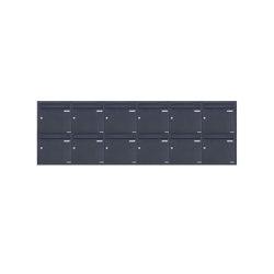 Basic | 12er 6x2 Edelstahl Unterputz Briefkastenanlage BASIC Plus 382XU UP - RAL nach Wahl - 12 Parteien 100mm Tiefe | Mailboxes | Briefkasten Manufaktur