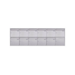Basic | 11er 6x2 Edelstahl Unterputz Briefkastenanlage BASIC Plus 382XU UP - Edelstahl geschliffen 100mm Tiefe | Mailboxes | Briefkasten Manufaktur