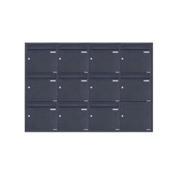 Basic | 11er 4x3 Edelstahl Unterputz Briefkastenanlage BASIC Plus 382XU UP - RAL nach Wahl - 11 Parteien 100mm Tiefe | Mailboxes | Briefkasten Manufaktur