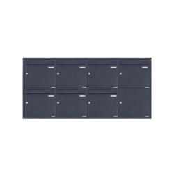 Basic | 7er 4x2 Edelstahl Unterputz Briefkastenanlage BASIC Plus 382XU UP - RAL nach Wahl - 7 Parteien 100mm Tiefe | Mailboxes | Briefkasten Manufaktur