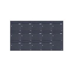 Basic | 14er 5x3 Edelstahl Unterputz Briefkastenanlage BASIC Plus 382XU UP - RAL nach Wahl - 14 Parteien 100mm Tiefe | Mailboxes | Briefkasten Manufaktur