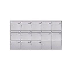 Basic | 13er 5x3 Edelstahl Unterputz Briefkastenanlage BASIC Plus 382XU UP - Edelstahl geschliffen 100mm Tiefe | Mailboxes | Briefkasten Manufaktur