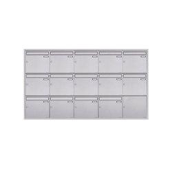 Basic | 14er 5x3 Edelstahl Unterputz Briefkastenanlage BASIC Plus 382XU UP - Edelstahl geschliffen 100mm Tiefe | Mailboxes | Briefkasten Manufaktur