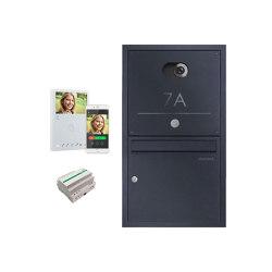 Basic | Edelstahl Unterputzbriefkasten BASIC Plus 382XU Elegance - Comelit VIDEO Komplettset Wifi - RAL 100mm Tiefe | Mailboxes | Briefkasten Manufaktur
