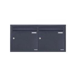 Basic | 2er 2x1 Edelstahl Unterputz Briefkastenanlage BASIC Plus 382XU UP - RAL nach Wahl - 2 Parteien 100mm Tiefe | Mailboxes | Briefkasten Manufaktur