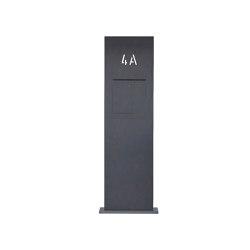 Designer   Briefkastensäule Designer BIG - GIRA System 106 - Video- Sprechanlage - Hausnummer - RAL Farbe Rechts   Mailboxes   Briefkasten Manufaktur