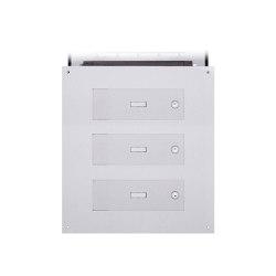 Designer | 3er Edelstahl Mauerdurchwurf Briefkasten Designer Modell - GIRA System 106 - 3-fach vorbereitet | Mailboxes | Briefkasten Manufaktur