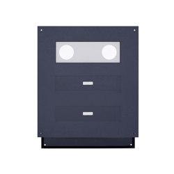 Designer | 2er Edelstahl Mauerdurchwurf Briefkasten Designer - RAL Farbe - GIRA System 106 - 3-fach vorbereitet | Mailboxes | Briefkasten Manufaktur