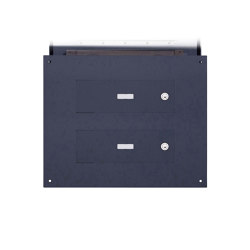 Designer | 3er Edelstahl Mauerdurchwurf Briefkasten Designer - RAL Farbe - GIRA System 106 - 3-fach vorbereitet | Mailboxes | Briefkasten Manufaktur