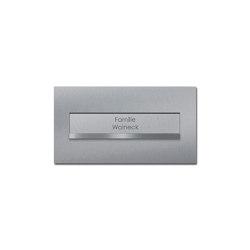 Designer | Edelstahl Mauerdurchwurf Briefkasten DESIGNER Style - Edelstahl geschliffen | Mailboxes | Briefkasten Manufaktur