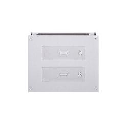 Designer | 2er Edelstahl Mauerdurchwurf Briefkasten DESIGNER Style - Edelstahl geschliffen | Mailboxes | Briefkasten Manufaktur