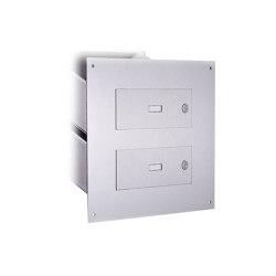 Designer | 3er Edelstahl Mauerdurchwurf Briefkasten DESIGNER Style - Edelstahl geschliffen | Mailboxes | Briefkasten Manufaktur