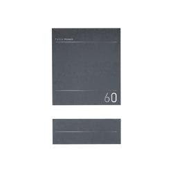 Schiller | Design Edelstahl Standbriefkasten SCHILLER MEDIUM Elegance I - Hausnummer - Name - RAL nach Wahl | Mailboxes | Briefkasten Manufaktur