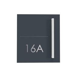 Schiller | Design Edelstahl Briefkasten SCHILLER MEDIUM Elegance II mit Griffleiste - Hausnummer - Name - RAL | Mailboxes | Briefkasten Manufaktur