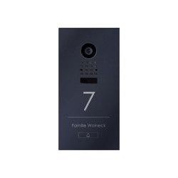 Designer | Edelstahl Video Türstation DESIGNER 529S Elegance I mit DoorBird D1100E - RAL nach Wahl | Door bells | Briefkasten Manufaktur