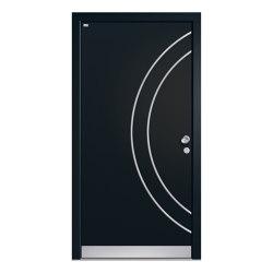 Aluminum clad wood entry doors | Design Type 1104 | Entrance doors | Unilux