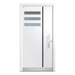 Aluminum clad wood entry doors | Design Type 1128 | Entrance doors | Unilux