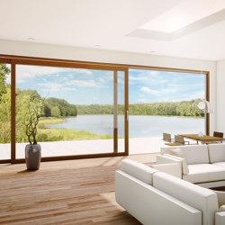 Aluminum clad wood lift-slide system | HS | Patio doors | Unilux