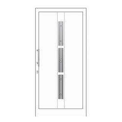 uPVC entry doors | IsoStar Model 7125 | Entrance doors | Unilux