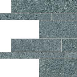 Re-Play Concrete Listelli Sfalsati Verdigris | Keramik Fliesen | EMILGROUP